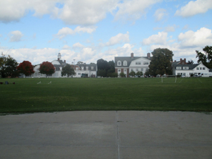 A view overlooking campus