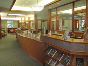 Inside the Salisbury library