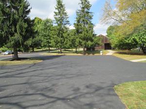 Driveway through campus