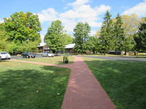 Walkway from Admissions Office