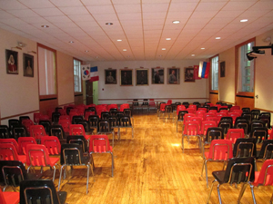 A school assembly hall