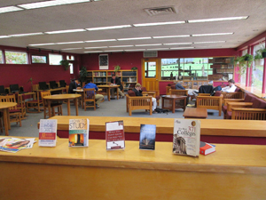 Inside the school library