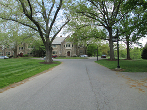 Driveway to Main building