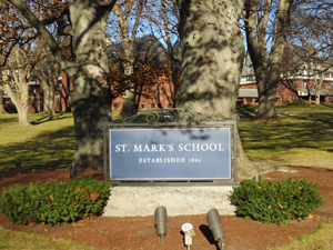 St. Mark's welcome sign