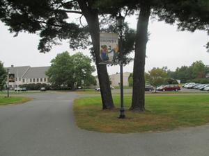A school banner