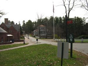 Roadway toward admissions