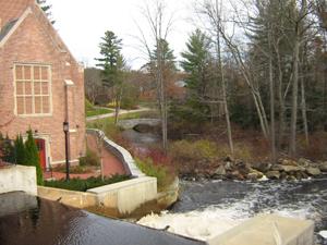 A stream along campus