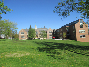 Campus view from the west