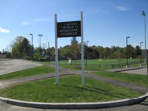 Entrance to sports field