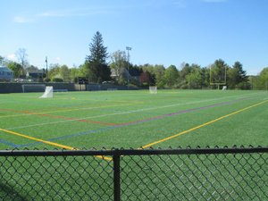 View of sports field