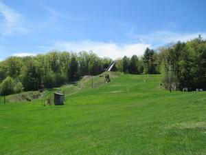 A campus ski slope