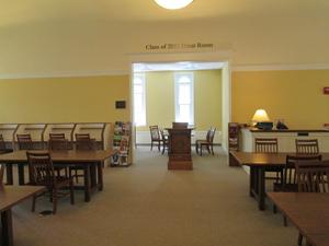 Inside the study hall