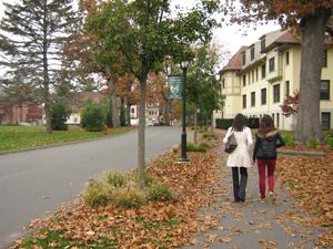 Toward main campus
