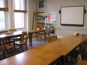 A traditional style classroom