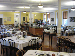 Inside the dining hall