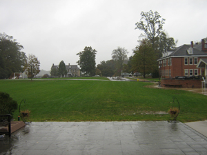 Scenic view of campus green