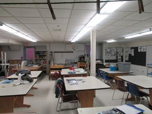 An art classroom