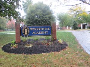Woodstock Academy sign