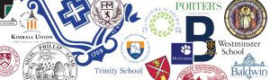 Collage of private school logos