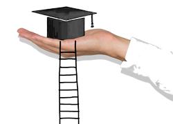 手拿着毕业帽