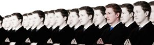 Rows of same person with one different