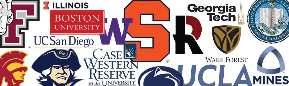 Collage of University logos