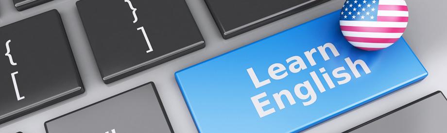 Learn English button on keyboard